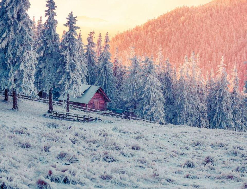 Фото зимових Карпат, як завжди, вражають своєю красою.