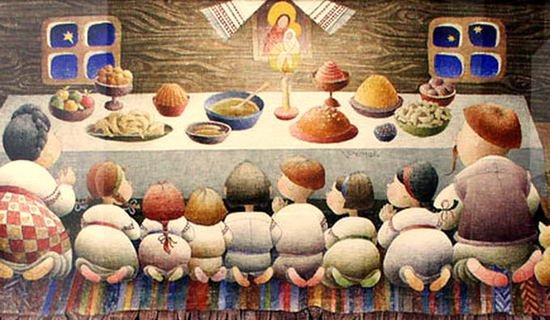 На Різдвяному столі кожної господині повинен бути керечун - високий урочистий хлібець округлої форми