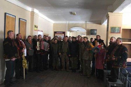 Військовим 128-ї бригади колядували священники / ФОТО
