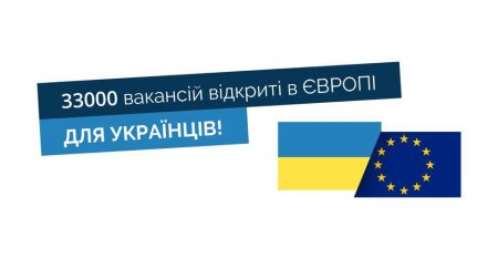 Європа потребує українців – 33000 вакансій вже відкрито