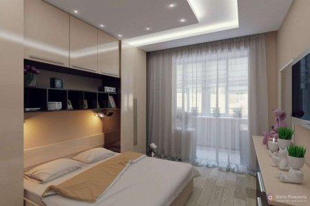 Оптимальний дизайн спальні в маленькій квартирі