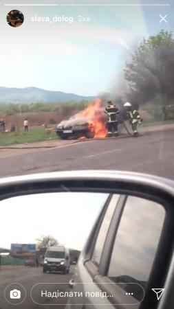 У Тячеві загорілось авто (Фото)