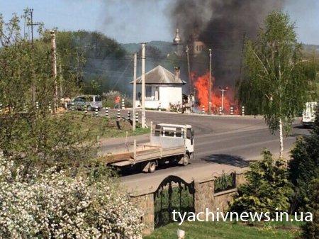 На Тячівщині знову пожежа (Фото, відео)